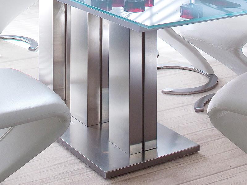glastisch ausziehbar esstisch grau verschiedene gr en s ulentisch tisch mason. Black Bedroom Furniture Sets. Home Design Ideas