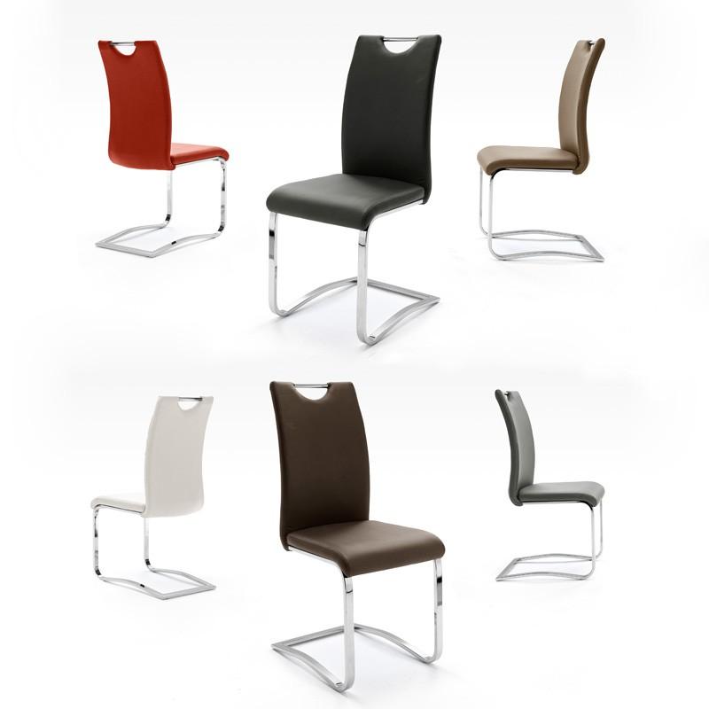 Stuhlgruppe freischwinger farbauswahl schwingstuhl for Design schwingstuhl