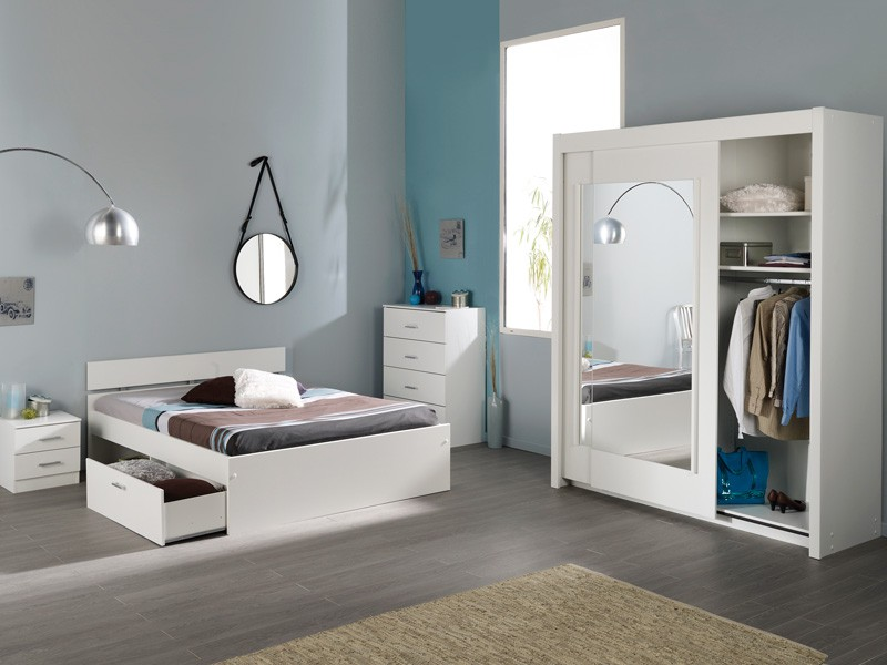 jugendzimmer komplett wei schlafzimmer 4 teilig schrank bett nako inaco 111 ebay. Black Bedroom Furniture Sets. Home Design Ideas