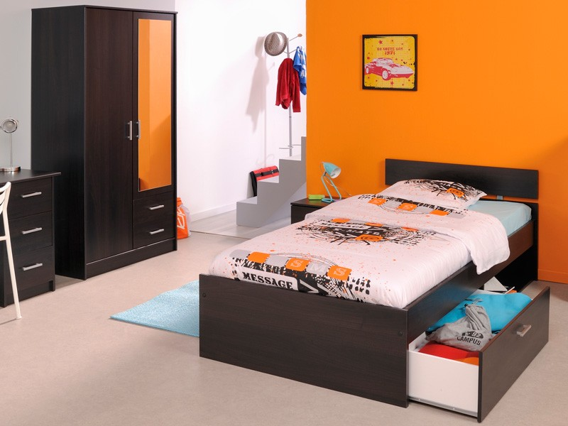 kinderzimmer komplett kaffee jugendzimmer 3 teilig schrank bett nako inaco 254 ebay. Black Bedroom Furniture Sets. Home Design Ideas