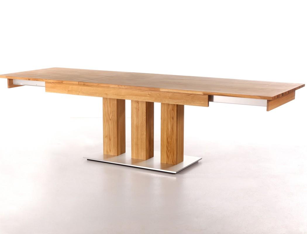 hochwertiger s ulentisch esstisch ausziehtisch massivholz holztisch arkas xl ebay. Black Bedroom Furniture Sets. Home Design Ideas