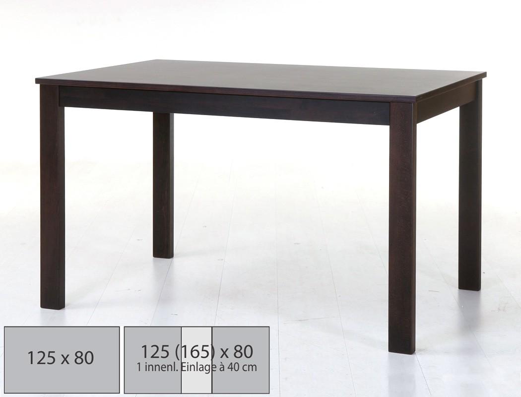 hochwertiger esstisch 125x80 massivholz tisch ausziehbar fest holztisch emilian ebay. Black Bedroom Furniture Sets. Home Design Ideas
