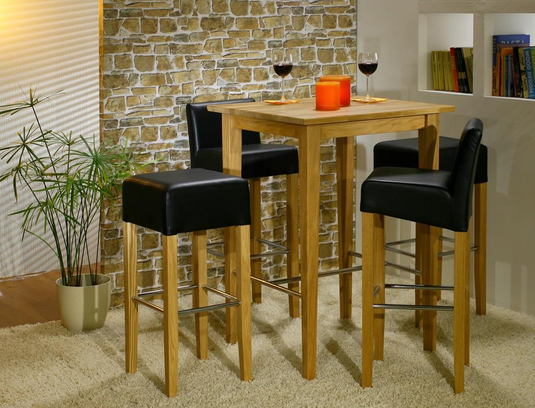 hochwertiger bartisch massiv h he 105cm stehtisch hochtisch bistrotisch leno ebay. Black Bedroom Furniture Sets. Home Design Ideas