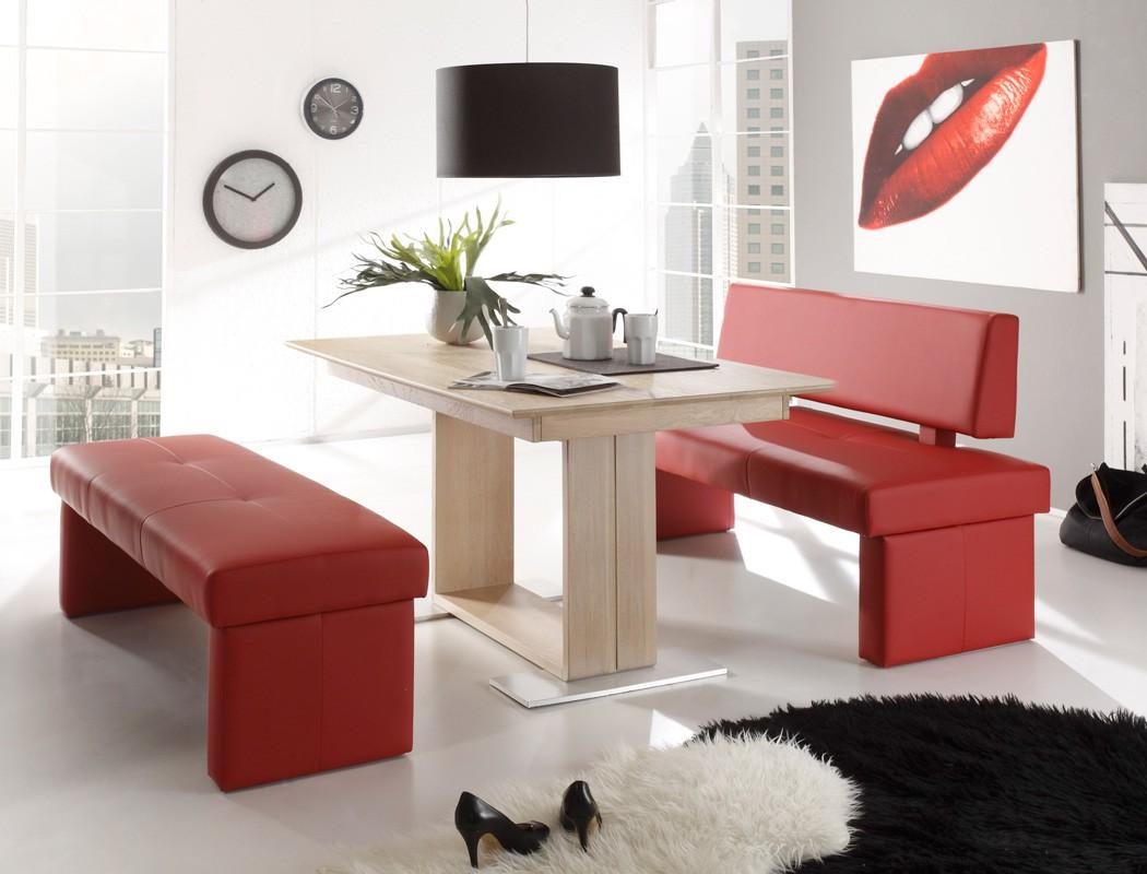 sitzgruppe eiche sonoma tisch 130x90 sitzbank 130cm bennet dorian cherry ebay. Black Bedroom Furniture Sets. Home Design Ideas