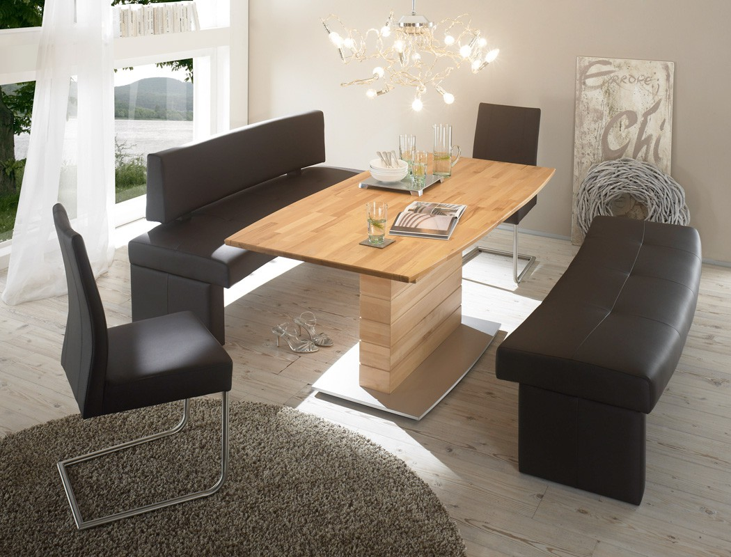 sitzgruppe rundbank dorian braun tisch ataro a. Black Bedroom Furniture Sets. Home Design Ideas