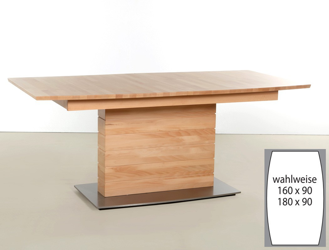 tischgruppe eiche s ulentisch 6 st hle ataro a boot. Black Bedroom Furniture Sets. Home Design Ideas