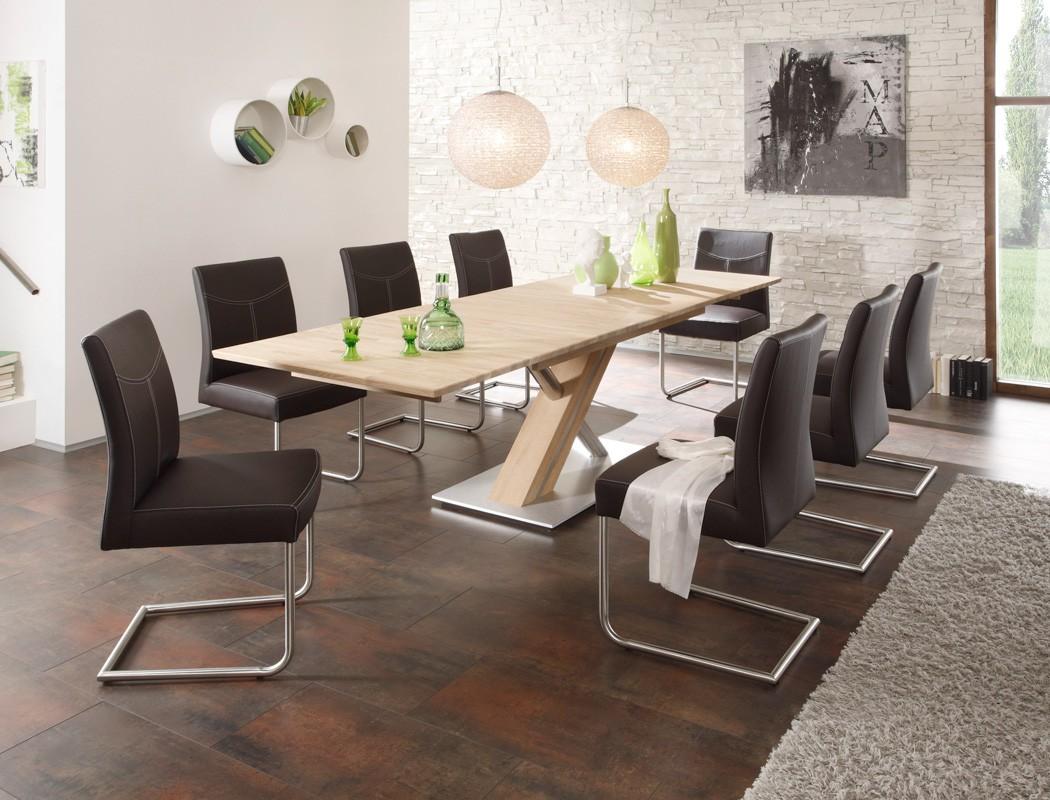 essgruppe eiche sonoma ausziehtisch 8 schwinger atis c recht lenia braun ebay. Black Bedroom Furniture Sets. Home Design Ideas