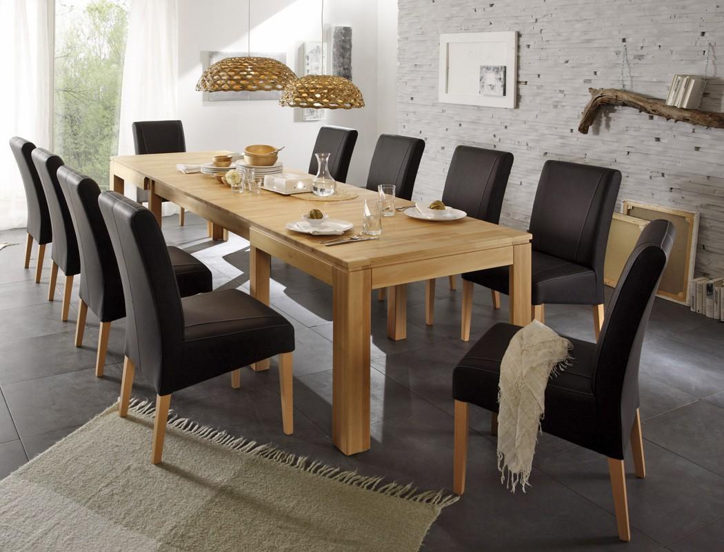 essgruppe kernbuche tisch ausziehbar 160 310 x90 10. Black Bedroom Furniture Sets. Home Design Ideas