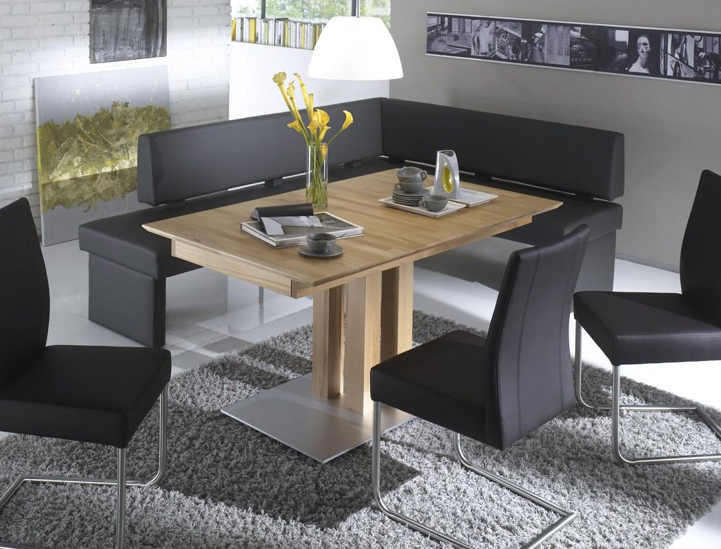 hochwertiger eckbanktisch tisch ausziehbar esstisch massivholz s ulentisch tino ebay. Black Bedroom Furniture Sets. Home Design Ideas