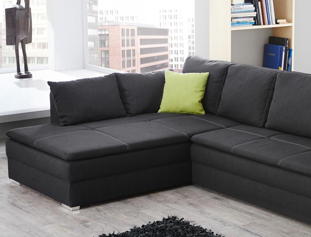 funktionssofa dauerschl fer 290x211cm sofa grau couch. Black Bedroom Furniture Sets. Home Design Ideas