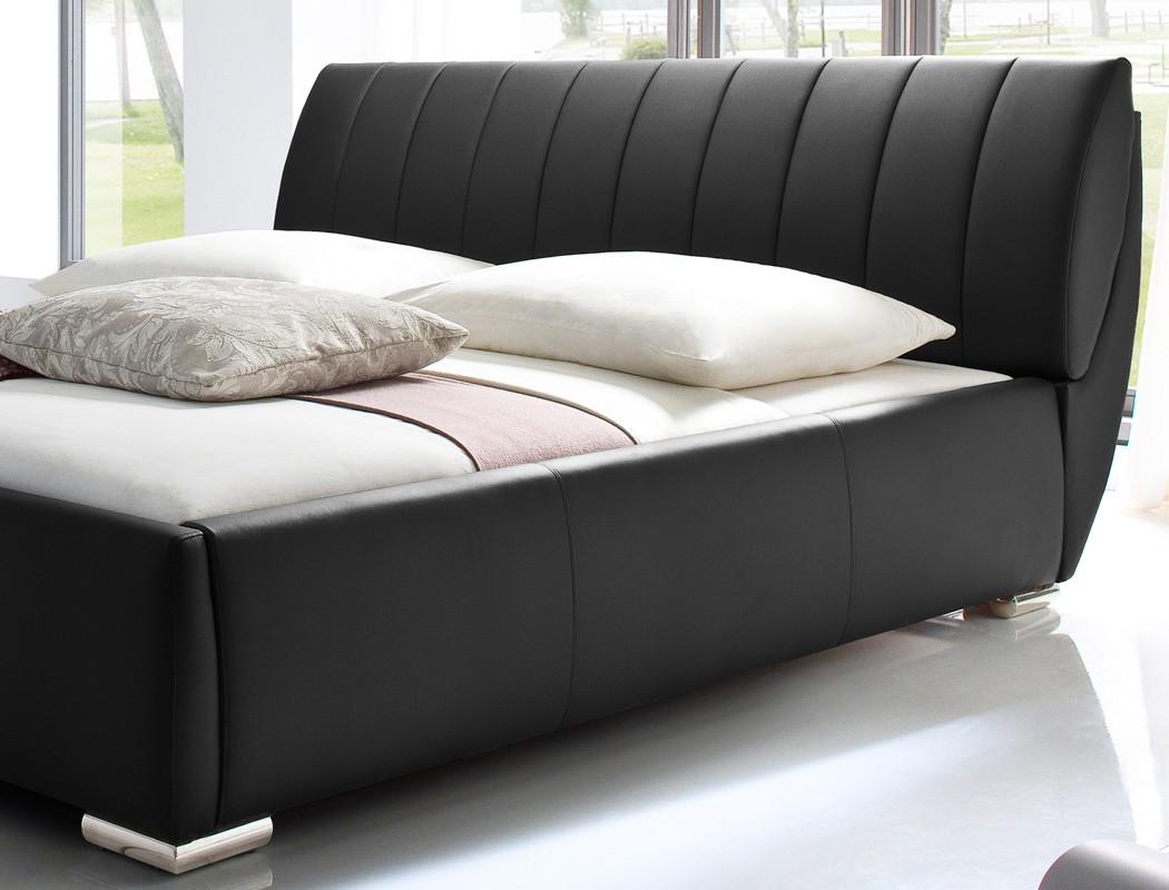 polsterbett doppelbett 180x200 bett schwarz bettkasten lattenrost klappbar luna. Black Bedroom Furniture Sets. Home Design Ideas