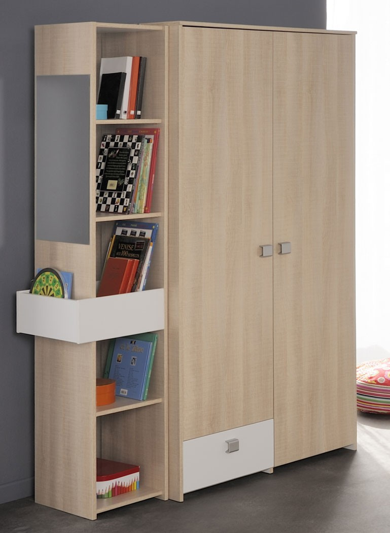 kleiderschrank eiche wei jugendzimmer kinderzimmerschrank schrank regal falk 5 ebay. Black Bedroom Furniture Sets. Home Design Ideas