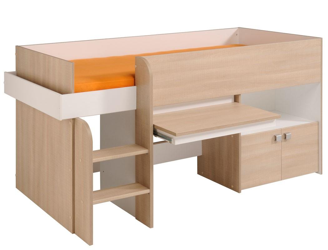 hochbett bett 90x200cm m dchen jungen kinderbett. Black Bedroom Furniture Sets. Home Design Ideas