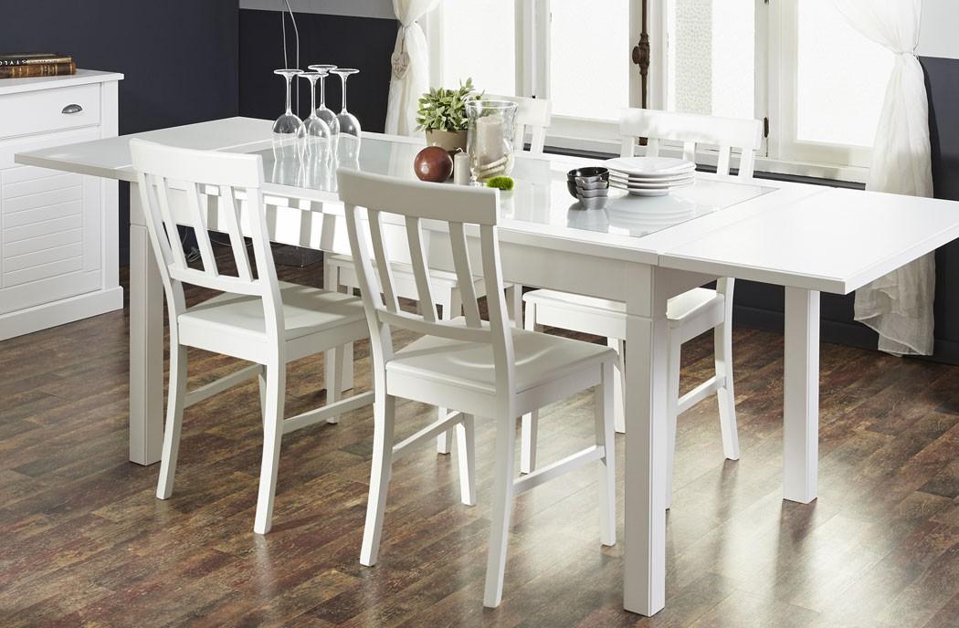 Tischgruppe esstisch 160 240 x90 und 6x stuhl wei for Esstisch stuhle weiss