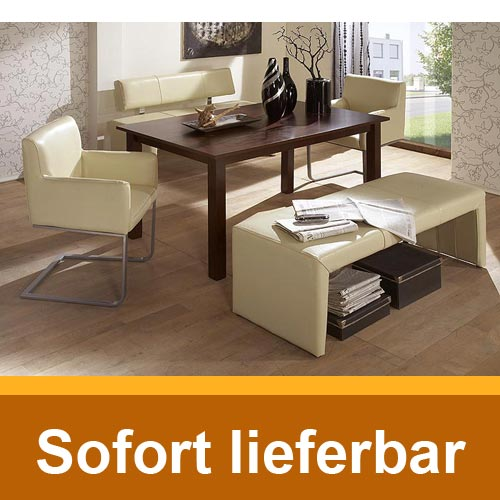 sitzbank luna 180cm beige echtleder bank hocker ohne. Black Bedroom Furniture Sets. Home Design Ideas