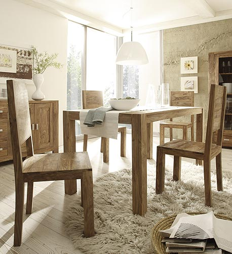 essgruppe salima sheesham 6 st hle tisch esszimmer ebay. Black Bedroom Furniture Sets. Home Design Ideas