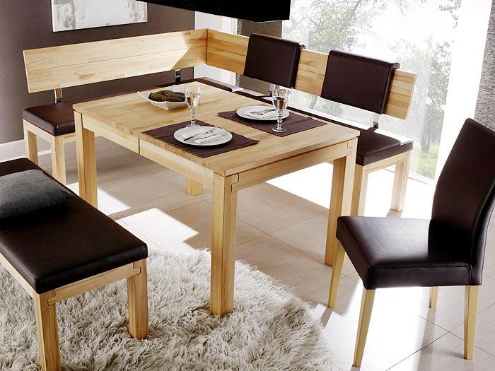 eckbankgruppe essgruppe luca ii holzbank esstisch stuhl eckbank massivholz. Black Bedroom Furniture Sets. Home Design Ideas