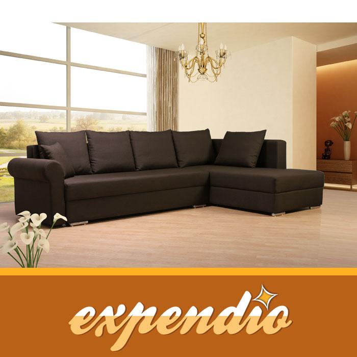 ecksofa florenz 270x200cm rechts bezug vita schlaffunktion schlafsofa couch. Black Bedroom Furniture Sets. Home Design Ideas