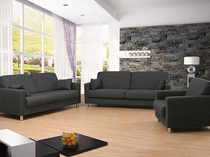 sofagarnitur 3 2 1 sitzer bitonto bezug cremona sofa couch sessel garnitur ebay. Black Bedroom Furniture Sets. Home Design Ideas