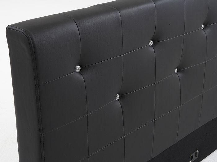 polsterbett 140x200 romanus wei kunst lederbett swarovski. Black Bedroom Furniture Sets. Home Design Ideas