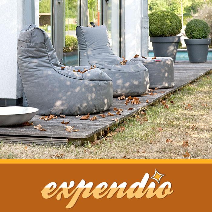 gartenm bel wetterfest caribbean sitzsessel m 85x90cm cappuccino sitzsack sessel ebay. Black Bedroom Furniture Sets. Home Design Ideas