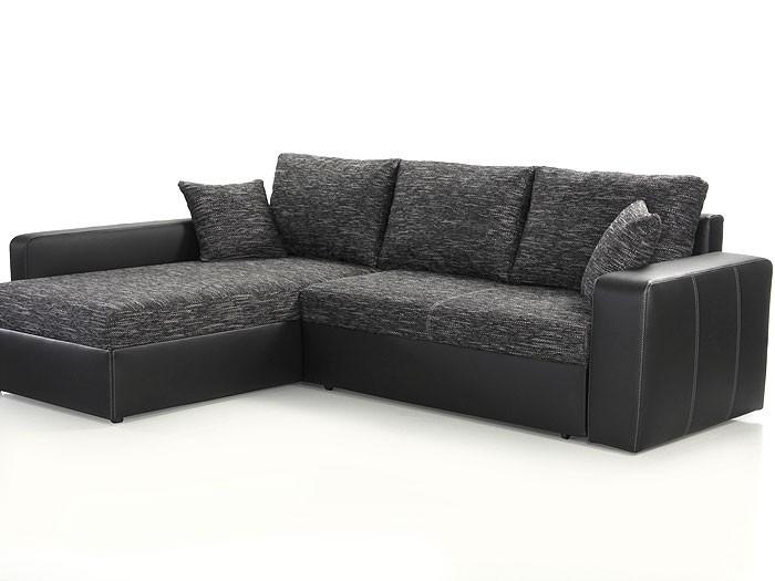 ecksofa vida 244x174cm anthrazit schwarz schlafsofa couch polsterecke wohnbereiche wohnzimmer. Black Bedroom Furniture Sets. Home Design Ideas