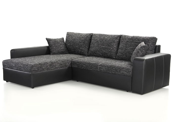 ecksofa vida 244x174cm anthrazit schwarz schlafsofa couch. Black Bedroom Furniture Sets. Home Design Ideas