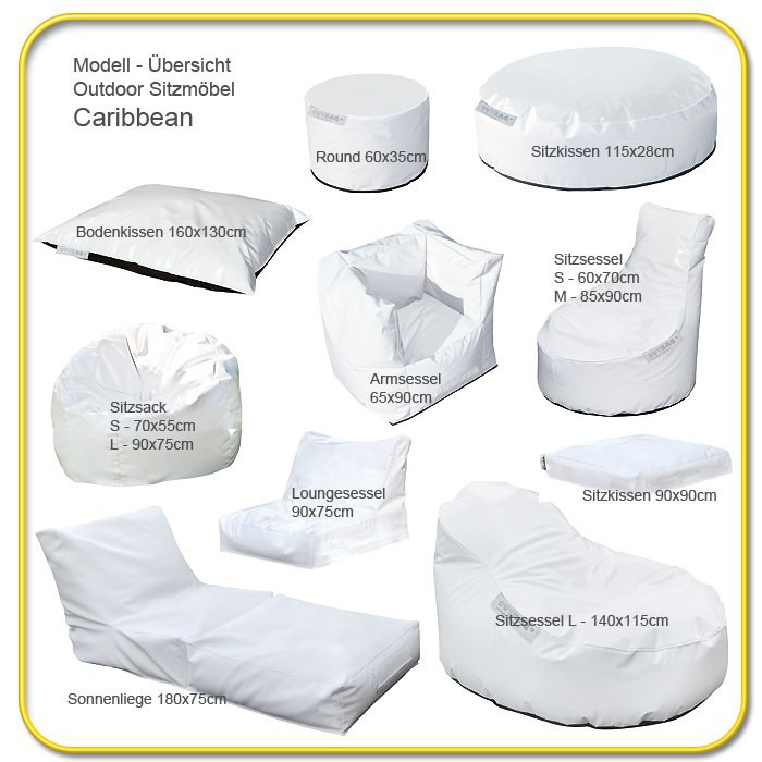 outdoor sitzsack caribbean armsessel 90x65 cm anthrazit. Black Bedroom Furniture Sets. Home Design Ideas