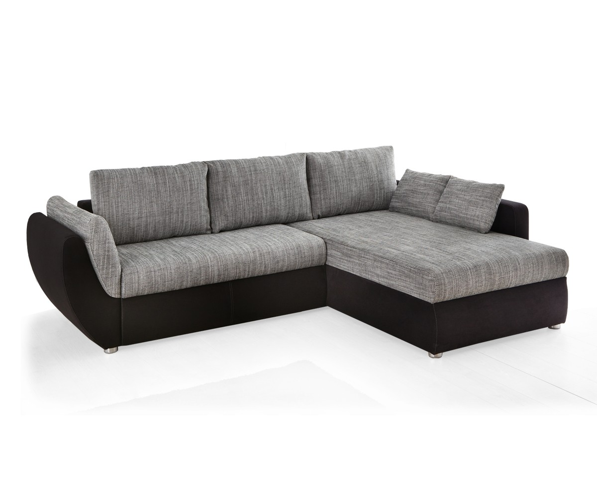 Ecksofa couch tifon 272x200cm grau schwarz bettfunktion for Ecksofa 300 x 200