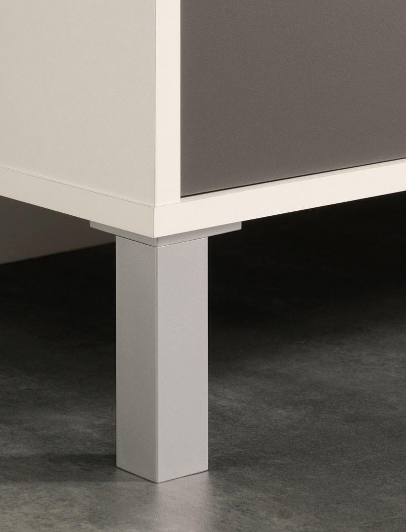 Küchenschrank opika 4 80x185x43 cm weiß grau schrank highboard ...