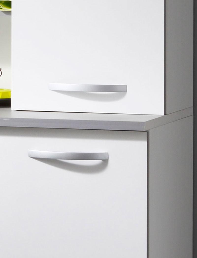 k chenschrank 120x181x44 cm anrichte buffetschrank wei. Black Bedroom Furniture Sets. Home Design Ideas