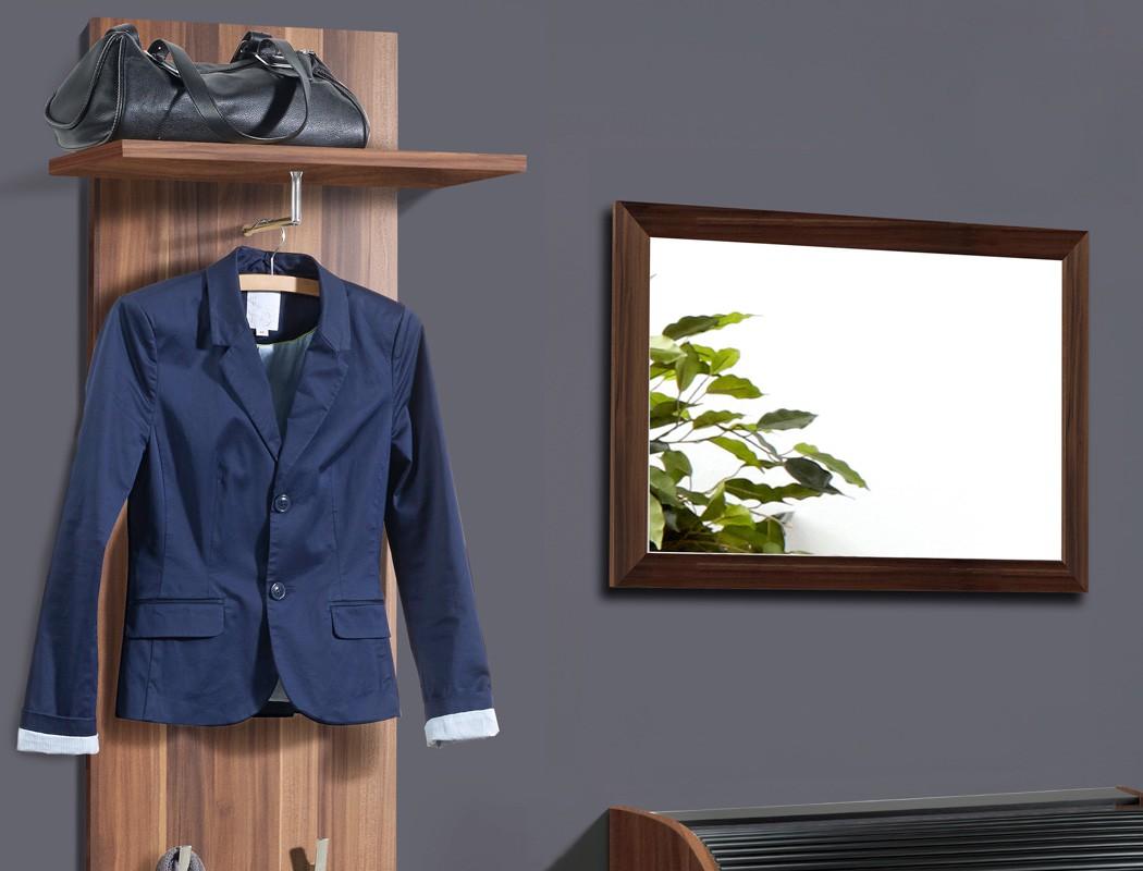 Garderobe nussbaum 3 teilig garderobenset wandpaneel for Garderobe 3 teilig