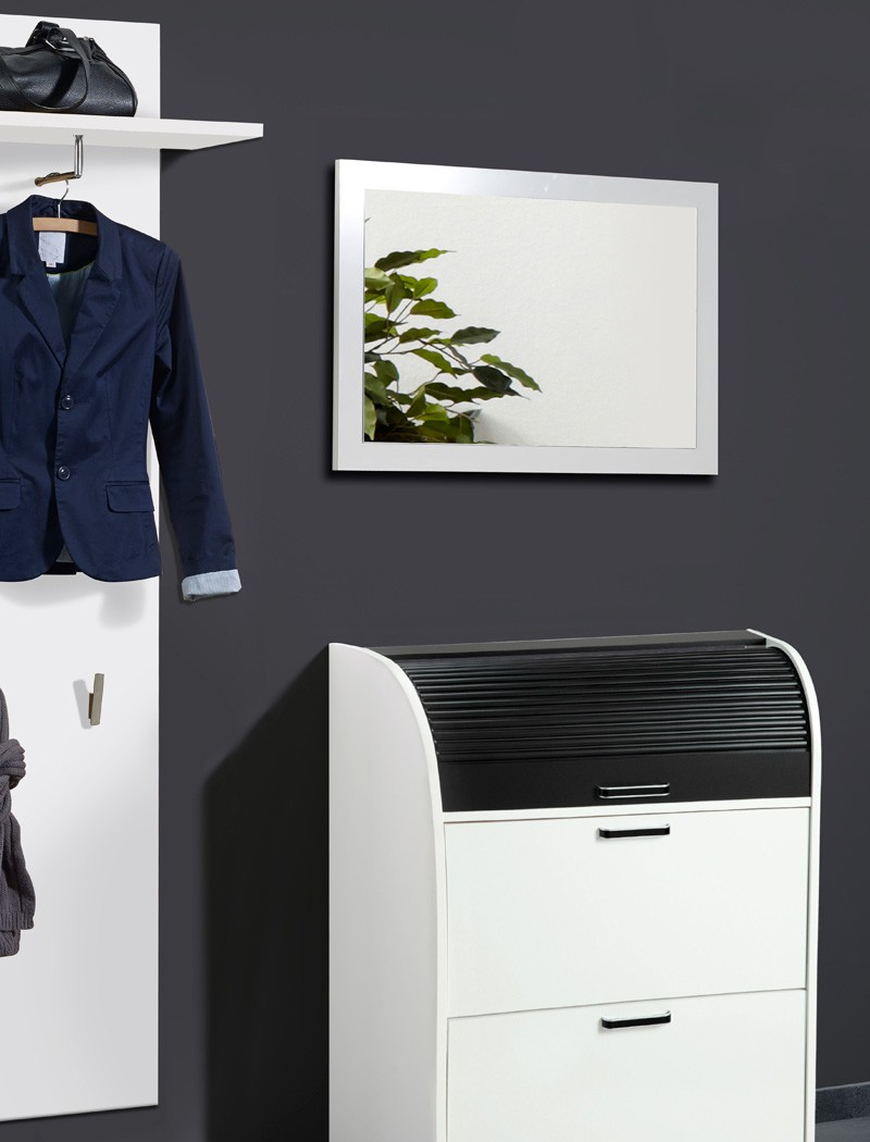 Wandspiegel ottawa 80x55x2 cm wei garderobenspiegel for Garderobe 80 x 200