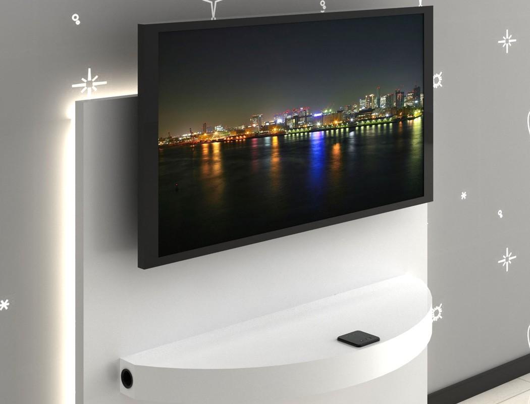 hifi wandboard arcadios 100x8x35 cm hochglanz wei multimedia station wohnbereiche wohnzimmer tv. Black Bedroom Furniture Sets. Home Design Ideas