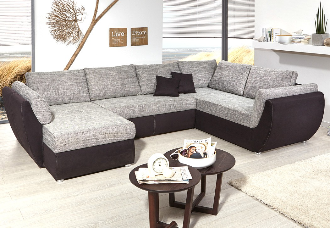 Couch u form modern for Sofa wohnlandschaft