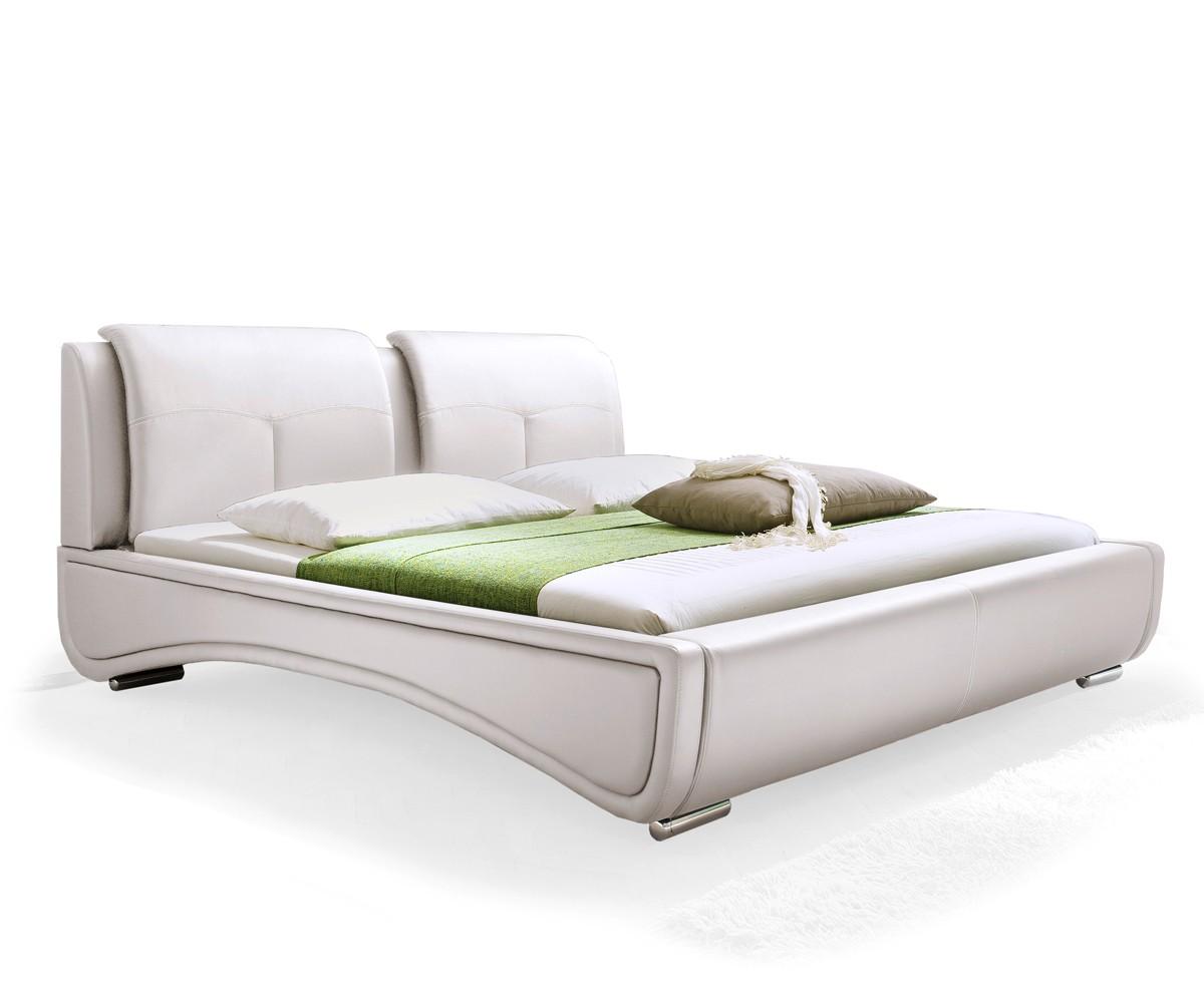 polsterbett syrus bett 180x200 cm wei ehebett doppelbett. Black Bedroom Furniture Sets. Home Design Ideas