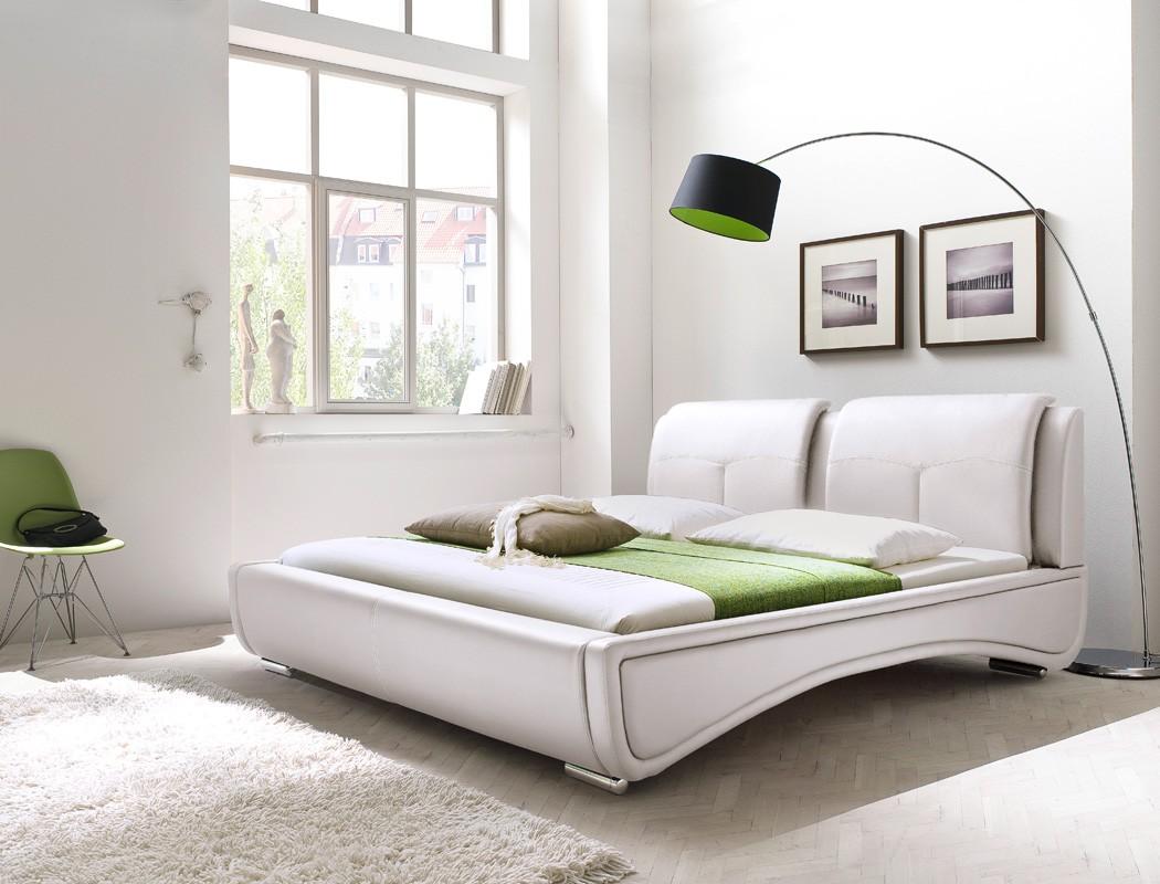 polsterbett syrus bett 180x200 wei ehebett doppelbett. Black Bedroom Furniture Sets. Home Design Ideas
