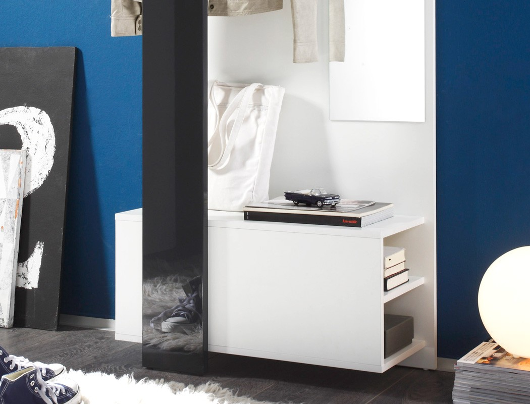 garderobe smart wei anthrazit 75x200x33 wandgarderobe flurgarderobe wohnbereiche bad. Black Bedroom Furniture Sets. Home Design Ideas
