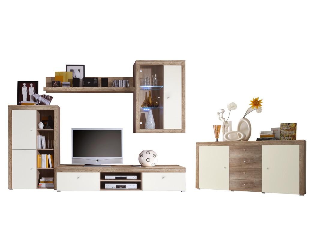 wohnzimmer lamount e 284 bis 458x202 eiche magnolie schrankwand board wohnbereiche wohnzimmer. Black Bedroom Furniture Sets. Home Design Ideas
