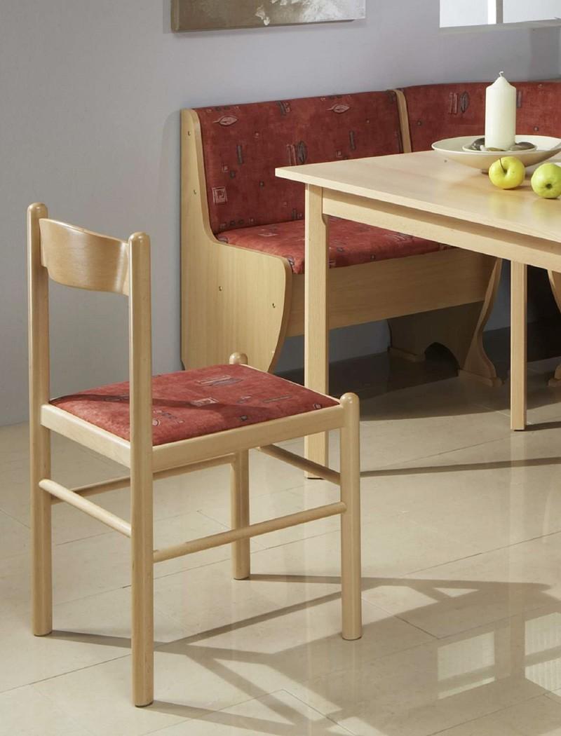 Eckbankgruppe pluto buche rot bank 159x119 cm 2x stuhl for Bank skandinavisch