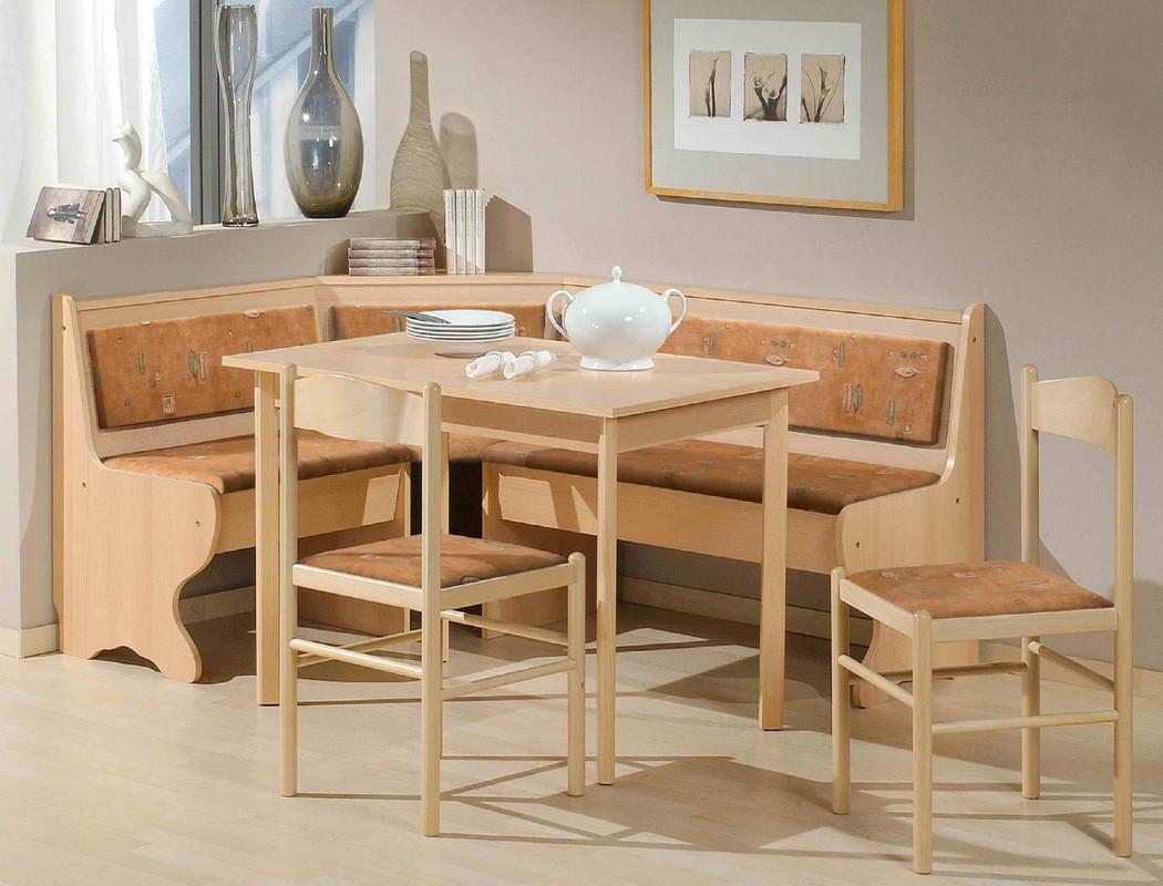Eckbankgruppe helena buche terracotta 2x stuhl tisch for Essgruppe skandinavisch