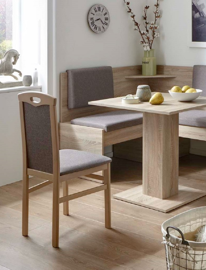 eckbankgruppe jada buche grau braun 2x stuhl tisch eckbank. Black Bedroom Furniture Sets. Home Design Ideas