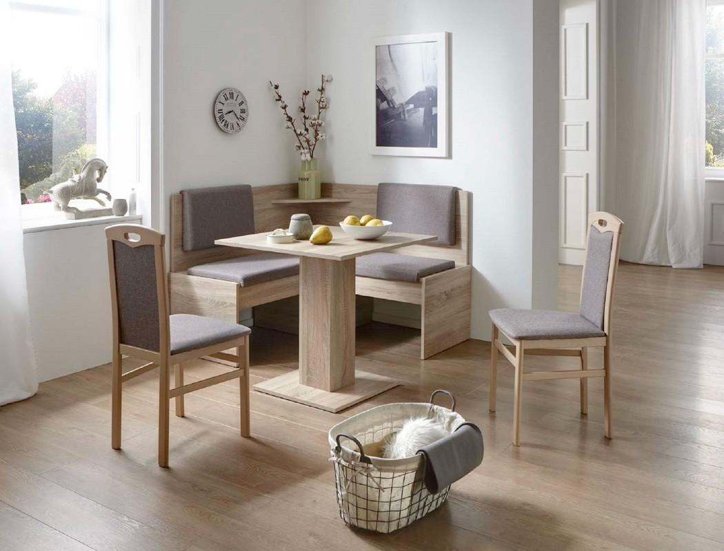 eckbankgruppe jada buche grau braun 2x stuhl tisch eckbank essgruppe wohnbereiche esszimmer. Black Bedroom Furniture Sets. Home Design Ideas