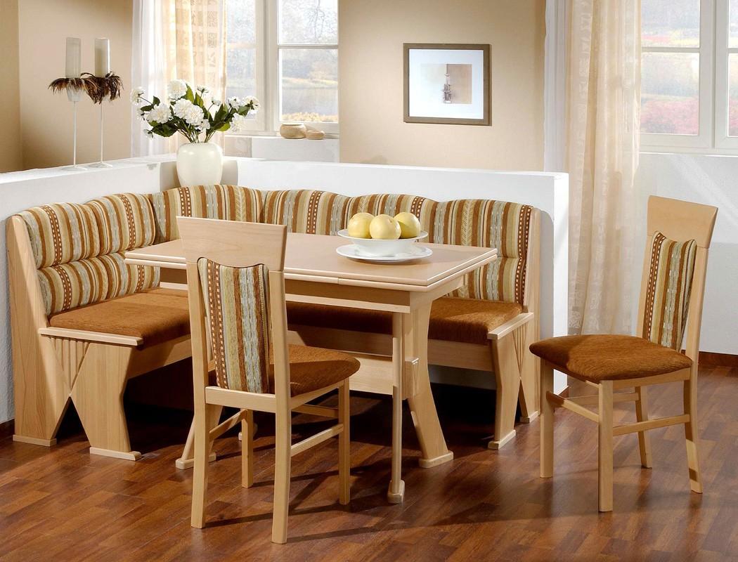 eckbankgruppe katy buche braun 2x stuhl ausziehtisch. Black Bedroom Furniture Sets. Home Design Ideas