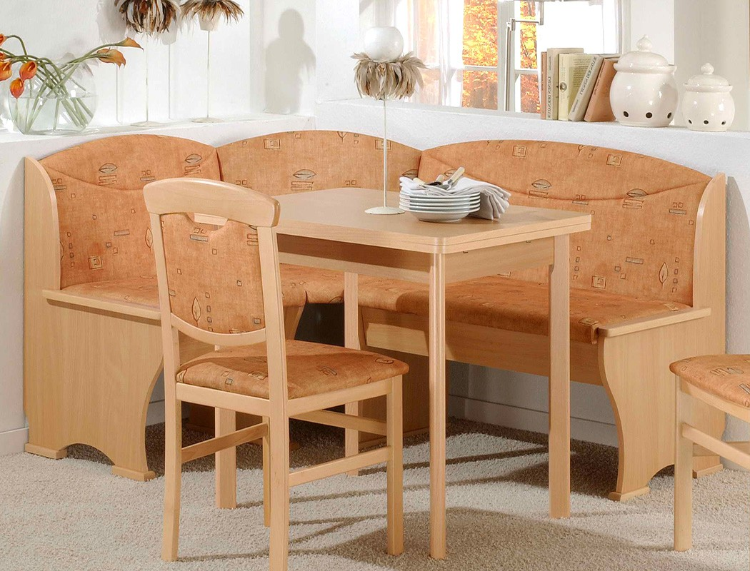 eckbankgruppe nica buche terracotta truheneckbank stuhl esstisch essgruppe ebay. Black Bedroom Furniture Sets. Home Design Ideas