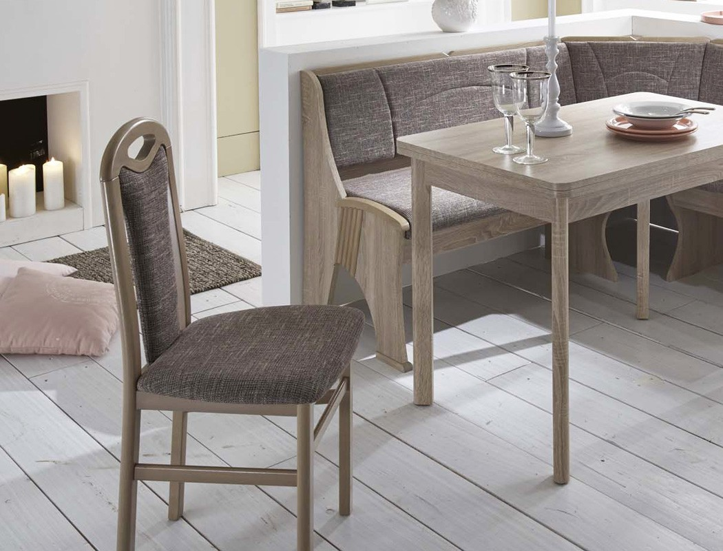 eckbankgruppe rosi eiche sonoma grau eckbank 2xstuhl ausziehtisch bank essgruppe ebay. Black Bedroom Furniture Sets. Home Design Ideas