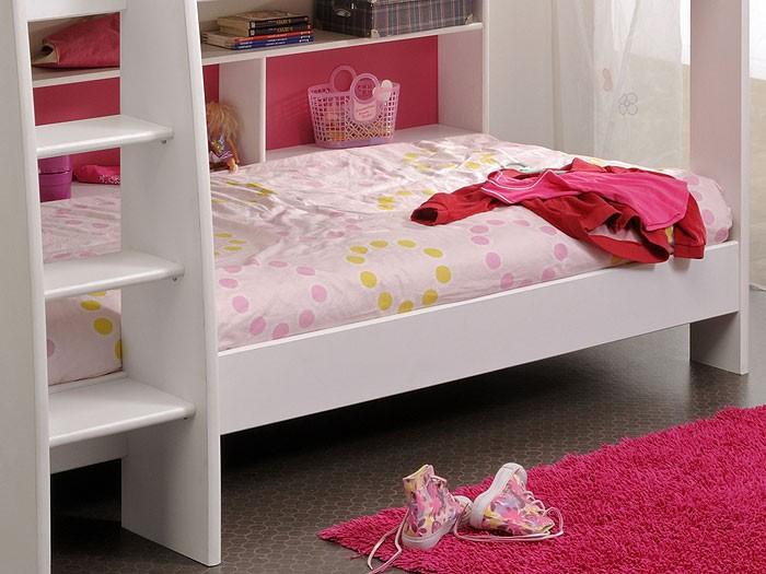 Etagenbett Pink : Etagenbett maris pferd pink inkl vorhang kiefer massiv weiß in