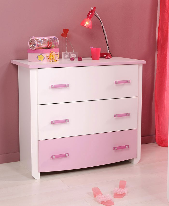 parisot kinderzimmer biotiful 12 wei rosa schrank. Black Bedroom Furniture Sets. Home Design Ideas