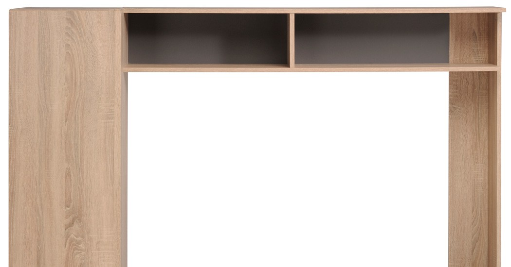 tv wand eiche natur nachbildung steinoptik tv m bel 166x138cm wohnwand fumio 5 ebay. Black Bedroom Furniture Sets. Home Design Ideas