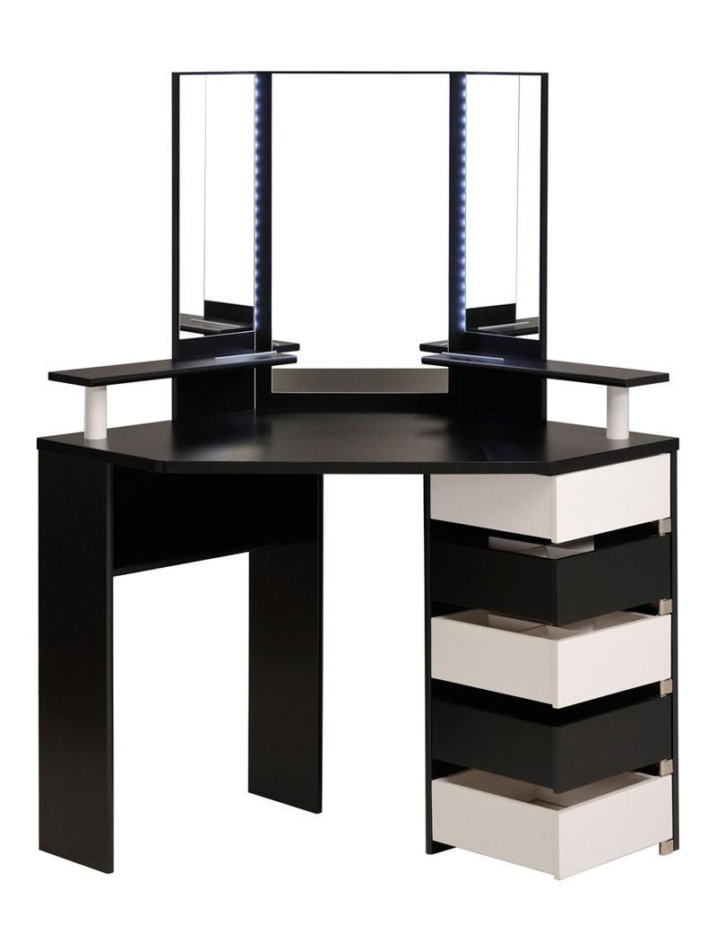 schminktisch volana 1 schwarz weiss 114x141x62 cm spiegel. Black Bedroom Furniture Sets. Home Design Ideas
